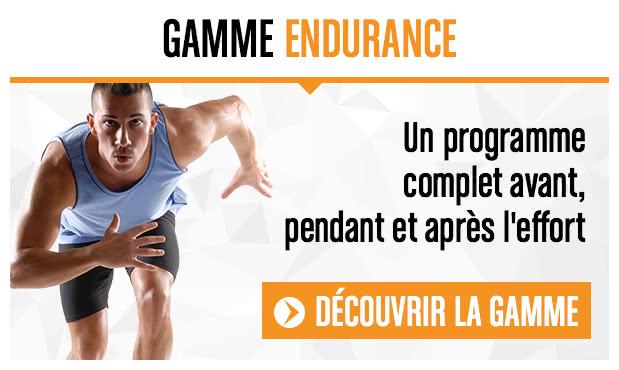 Gamme Endurance, un programme complet avant, pendant et après l'effort